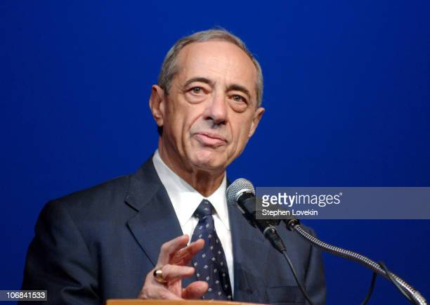 New York Governor Mario Cuomo during Wynton Marsalis Delivers the Keynote Speech to the 2005 Graduating Class at the Frank Sinatra School of the Arts...