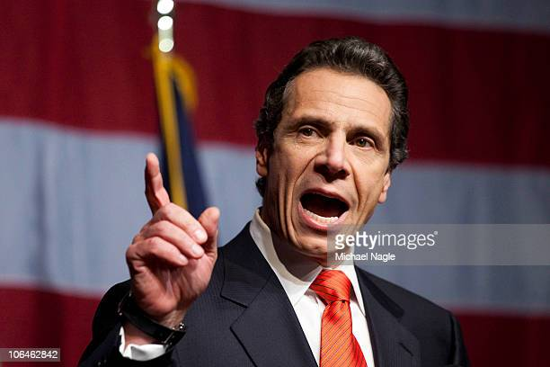 New York Governorelect Andrew Cuomo speaks to supporters at the Sheraton New York on election night November 2 2010 in New York City Cuomo...