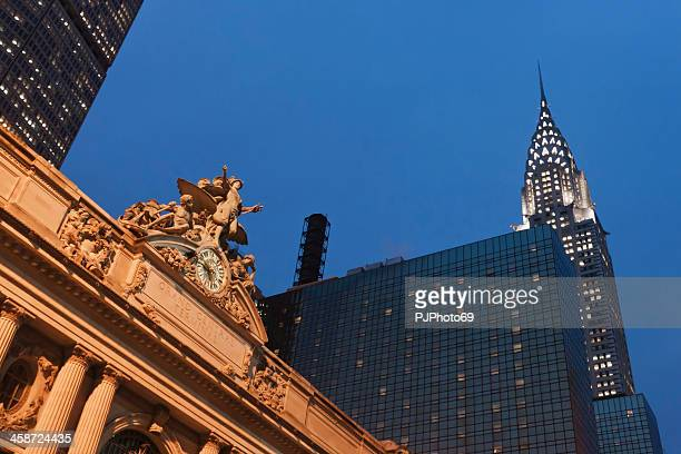 New York - Grand Central Station and Chrysler Building