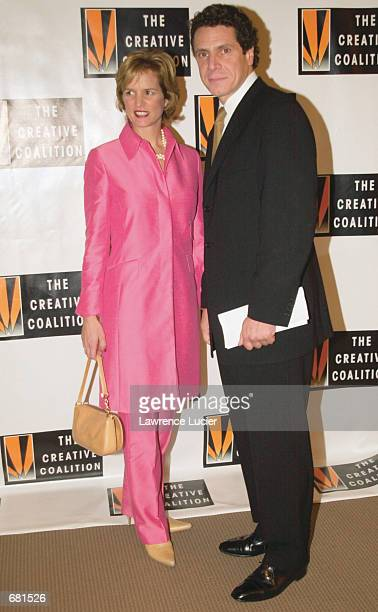 New York gubernatorial candidate Andrew Cuomo and his wife Kerry Kennedy Cuomo arrive at the Creative Coalition 2001 Spotlight Awards November 12...
