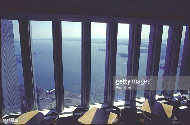 New York Harbor as seen from Top of the Towers restaurant in World Trade Center