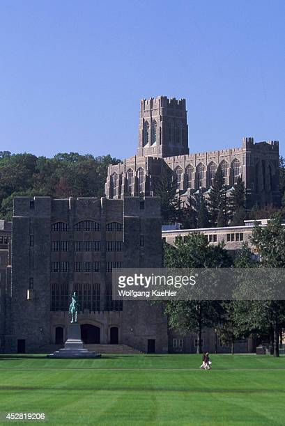USA New York Hudson River West Point Military Academy View Of Cadet Chapel
