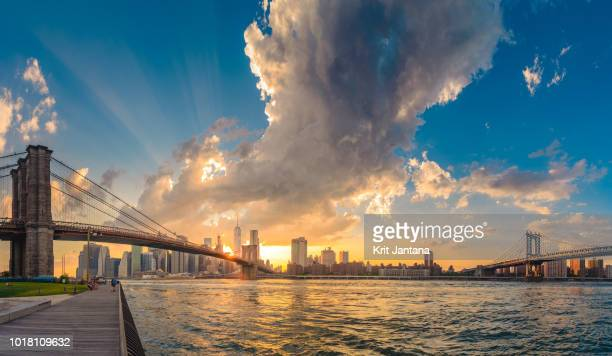 new york in panorama - river hudson stock pictures, royalty-free photos & images