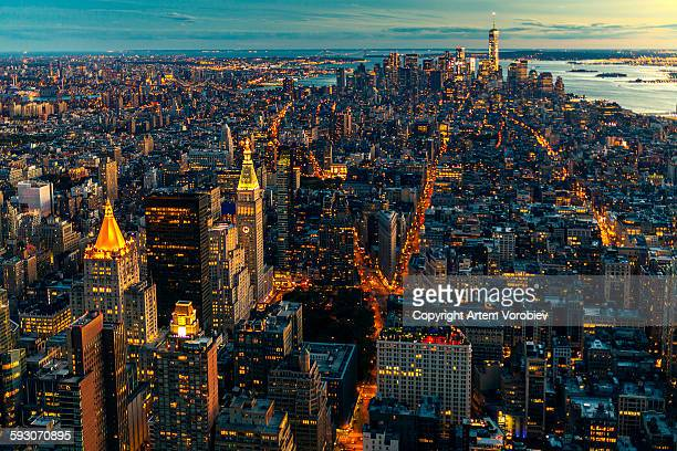 New York in the evening light