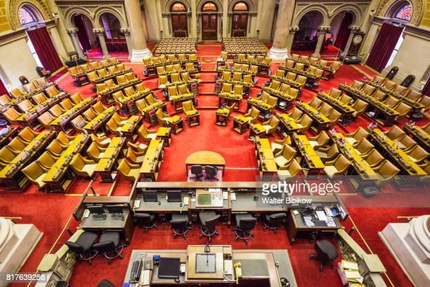 usa, new york, interior - ニューヨーク州庁舎 ストックフォトと画像