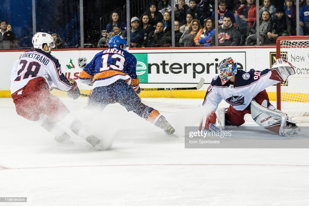 NHL: NOV 30 Blue Jackets at Islanders : News Photo