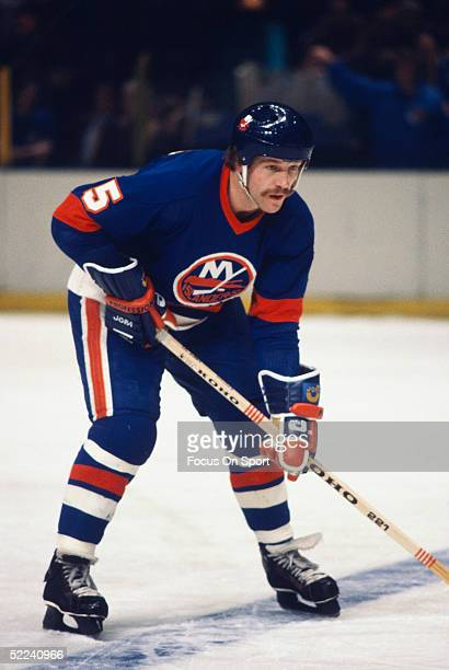 New York Islanders' Denis Potvin stands his ground during a game at Nassau Coliseum circa 1978 in Uniondale New York
