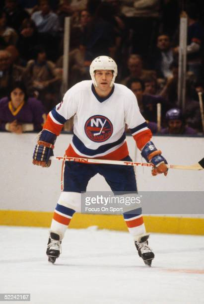 New York Islanders' Denis Potvin stands his ground during a game at Nassau Coliseum in Uniondale New York