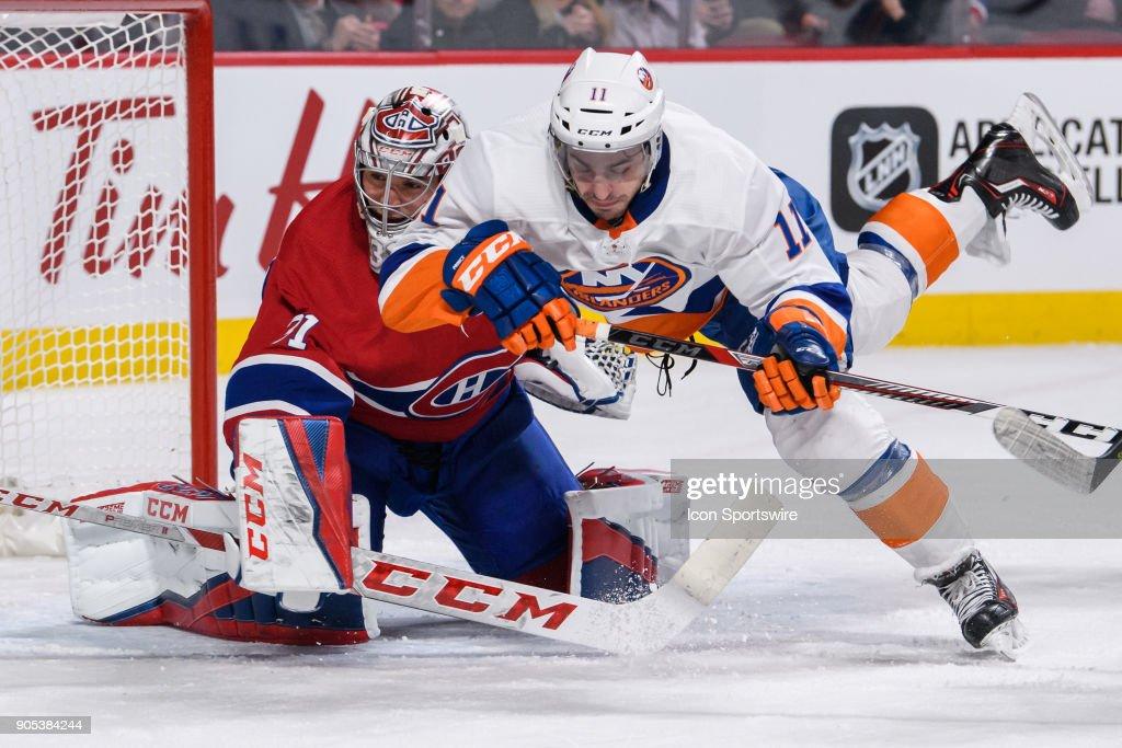 NHL: JAN 15 Islanders at Canadiens : Nachrichtenfoto