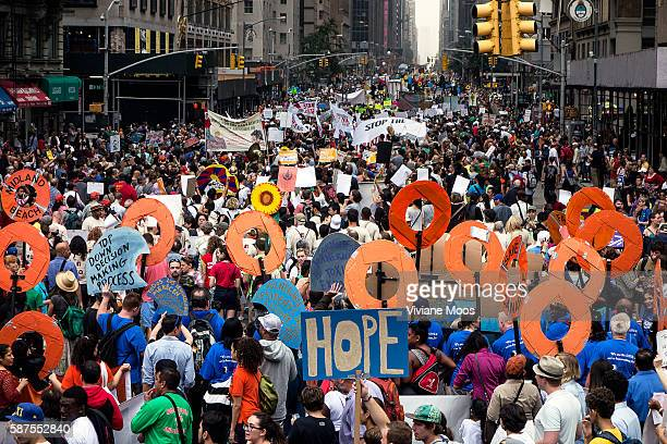 New York It's being called the largest mobilization against climate change in the history of the planet Hundreds of thousands of demonstrators the...