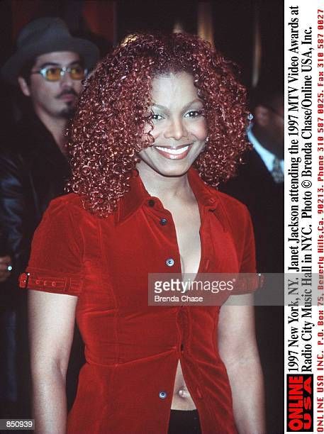 New York Janet Jackson attending the 1997 MTV Video Awards at the Radio City Music Hall in NYC