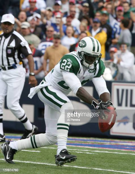 New York Jets CB Justin Miller in action during the Jets' 28-20 win over the Bills at Ralph Wilson Stadium, Orchard Park, New York. September 24,...
