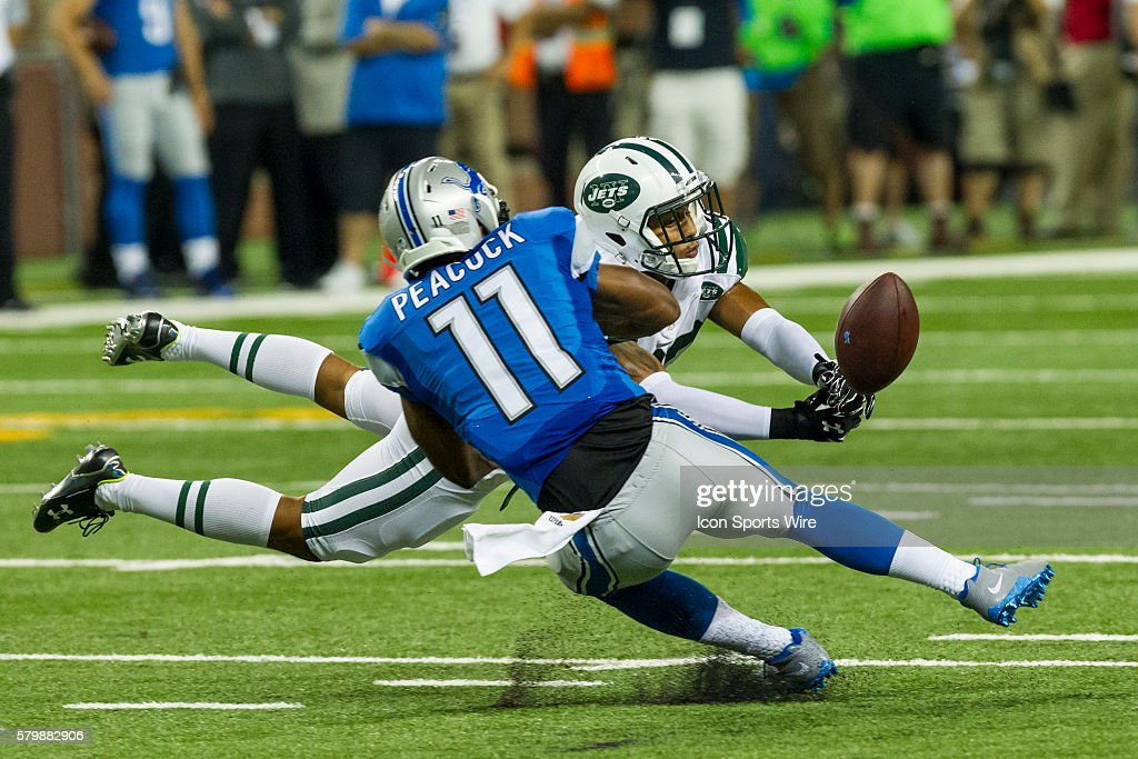 NFL: AUG 13 Preseason - Jets at Lions : News Photo