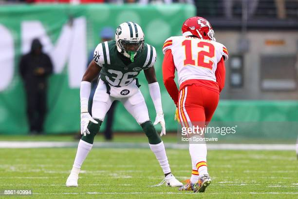 New York Jets defensive back Doug Middleton during the National Football League game between the New York Jets and the Kansas City Chiefs on December...
