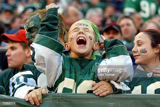 New York Jets fans enjoy themseleves as they play the Houston Texans on December 5 2004 at Giants Stadium in East Rutherford New Jersey The Jets...