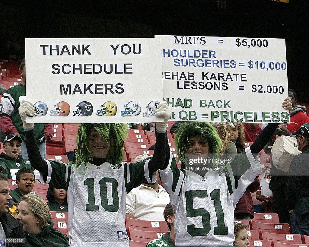 Detroit Lions vs New York Jets - October 22, 2006 : News Photo