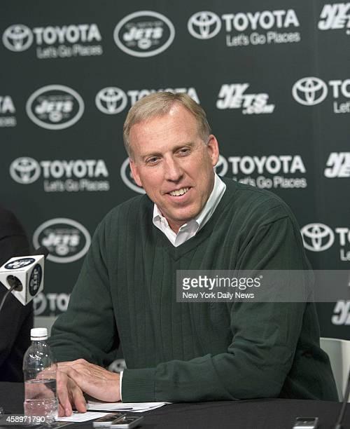New York Jets General Manager John Idzik holds PreDraft Press Conference