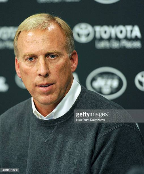 New York Jets GM John Idzik at their training facility in Florham Park New Jersey
