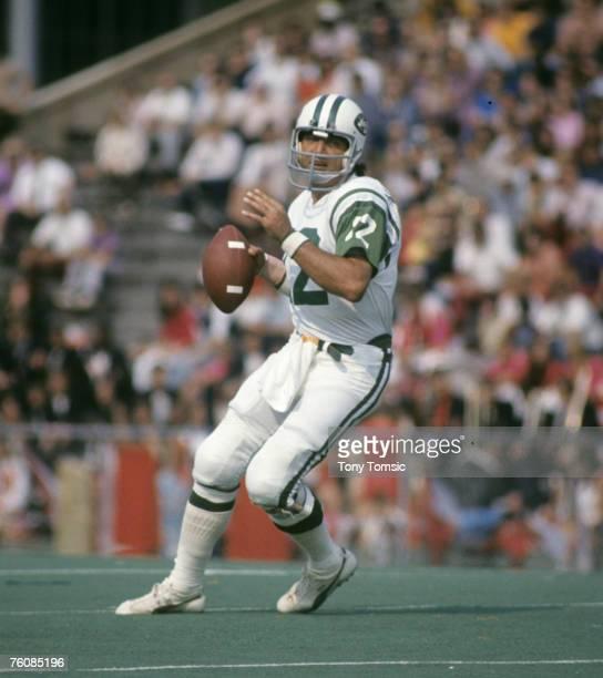 New York Jets Hall of Fame quarterback Joe Namath in 1972