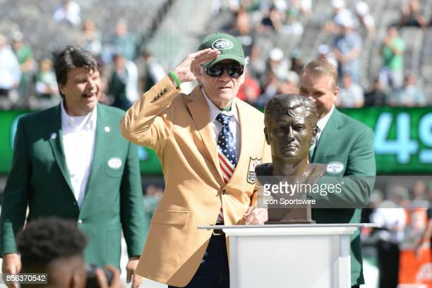 New York Jets Hall of Famer Don Maynard during the Hall of Fame Ring of Excellence ceremony prior to the start of the Jacksonville Jaguars at New...