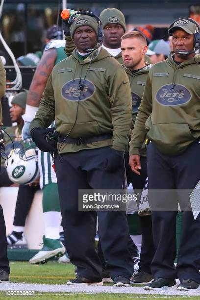 New York Jets head coach Todd Bowles during the National Football League game between the New York Jets and the Buffalo Bills on November 11 2018 at...