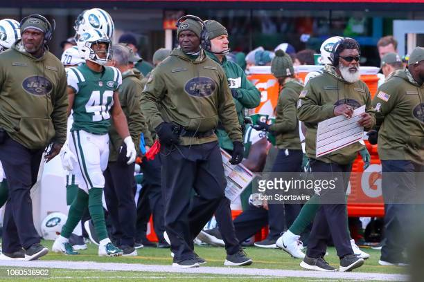 New York Jets head coach Todd Bowles on the sideline during the fourth quarter of the National Football League game between the New York Jets and the...