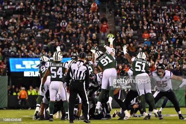 New York Jets in action against the Houston Texans at MetLife Stadium on December 15 2018 in East Rutherford New Jersey
