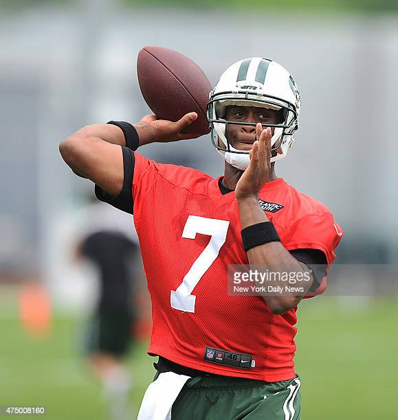 New York Jets quarterback Geno Smith when the New York Jets practiced Wednesday May 27 2015 at their training facility in Florham Park New Jersey