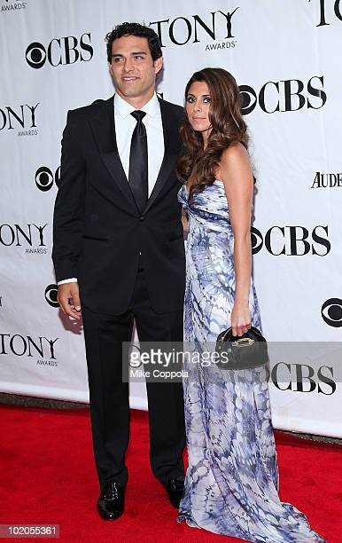 New York Jets quarterback Mark Sanchez and actress JamieLynn Sigler attend the 64th Annual Tony Awards at Radio City Music Hall on June 13 2010 in...