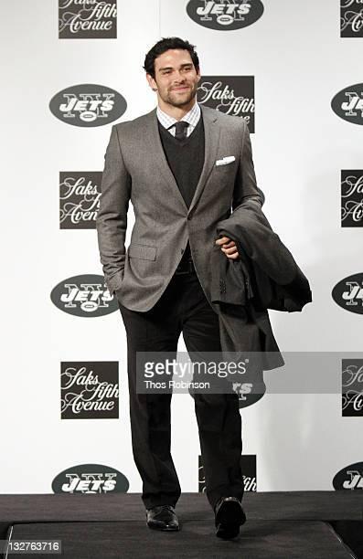 New York Jets Quarterback Mark Sanchez attends Saks Fifth Avenue Celebrates The NY Jets on November 1 2010 in New York City