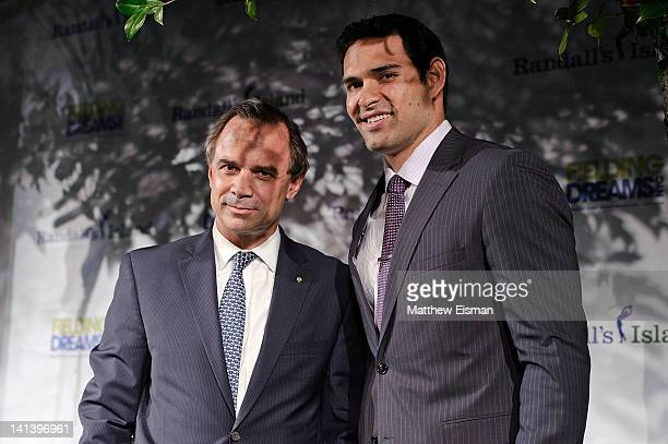 New York Jets quarterback Mark Sanchez attends the 2012 Randall's Island Sports Foundation Fielding Dreams Gala at Skylight SOHO on March 15 2012 in...