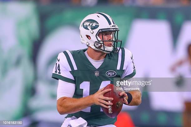 New York Jets quarterback Sam Darnold during the second quarter of the preseason National Football League game between the New York Jets and the...