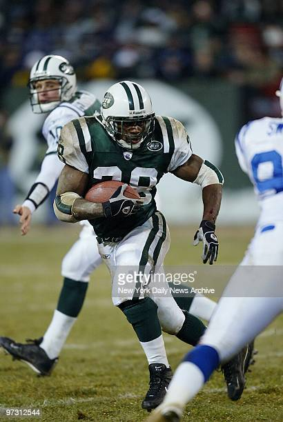 New York Jets' running back Curtis Martin carries the ball during first half of AFC wildcard playoff game against the Indianapolis Colts at Giants...