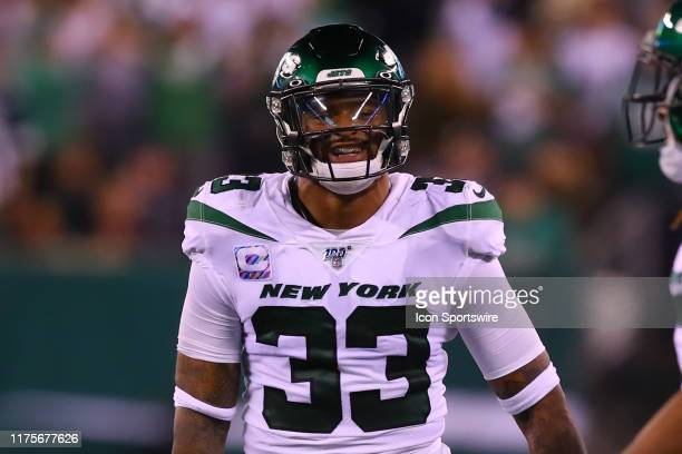 New York Jets strong safety Jamal Adams during the fourth quarter of the National Football League game between the New York Jets and the Dallas...