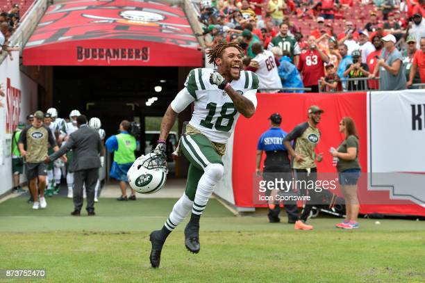 d6c40c5bed6 New York Jets wide receiver ArDarius Stewart enters the field prior to the  start of an