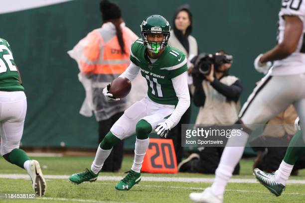 New York Jets wide receiver Robby Anderson during the National Football League game between the New York Jets and the Oakland Raiders on November 24,...