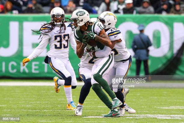 New York Jets wide receiver Robby Anderson during the National Football League game between the New York Jets and the Los Angeles Chargers on...