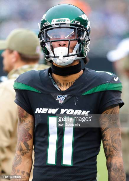 New York Jets Wide Receiver Robby Anderson is pictured during the National Football League game between the New York Giants and the New York Jets on...