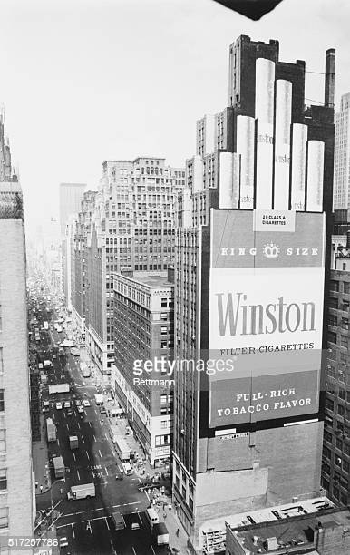 King Size AD This 20story cigarette advertisement which a public relations firm describes as being 'one of the largest signs ever painted' now towers...