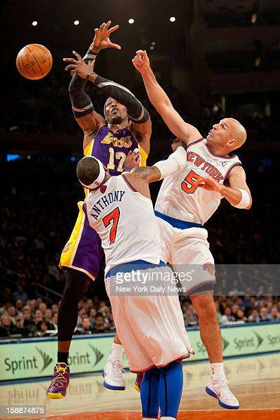 New York Knicks against the Los Angeles Lakers at Madison Square Garden New York Knicks small forward Carmelo Anthony and New York Knicks point guard...