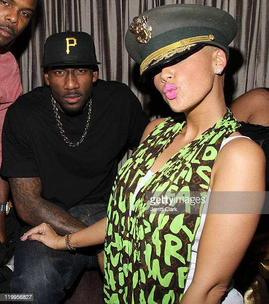 huge discount 527b1 ea92e New York Knicks  Amar e Stoudemire and Amber Rose attend the LeBron James  One
