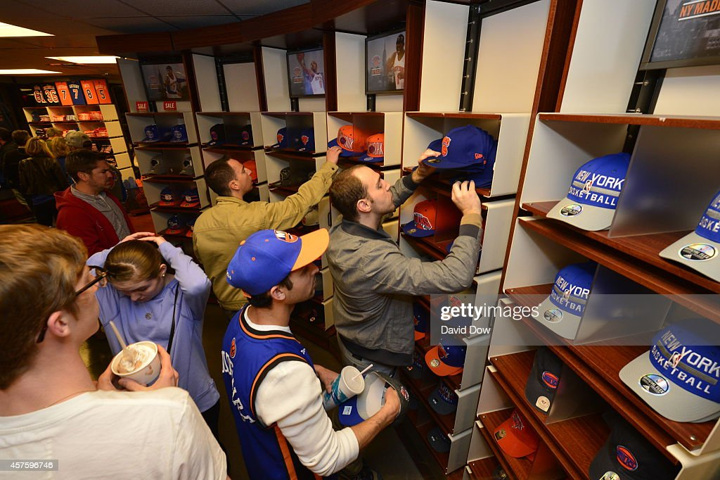 half off c8013 5e5e0 New York Knicks fans visit the team store to shop at Madison ...