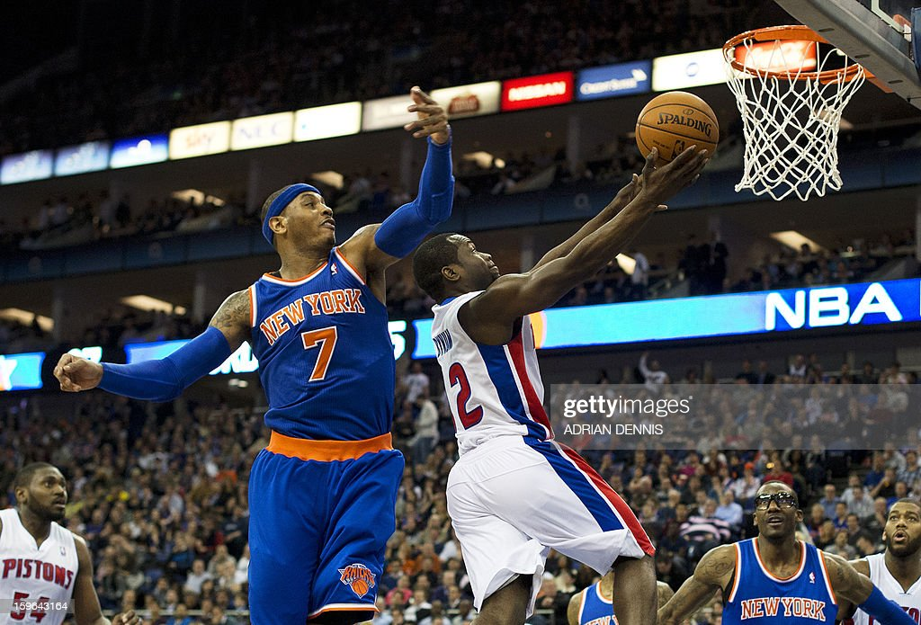 BASKET-NBA-GBR-KNICKS-PISTONS : News Photo