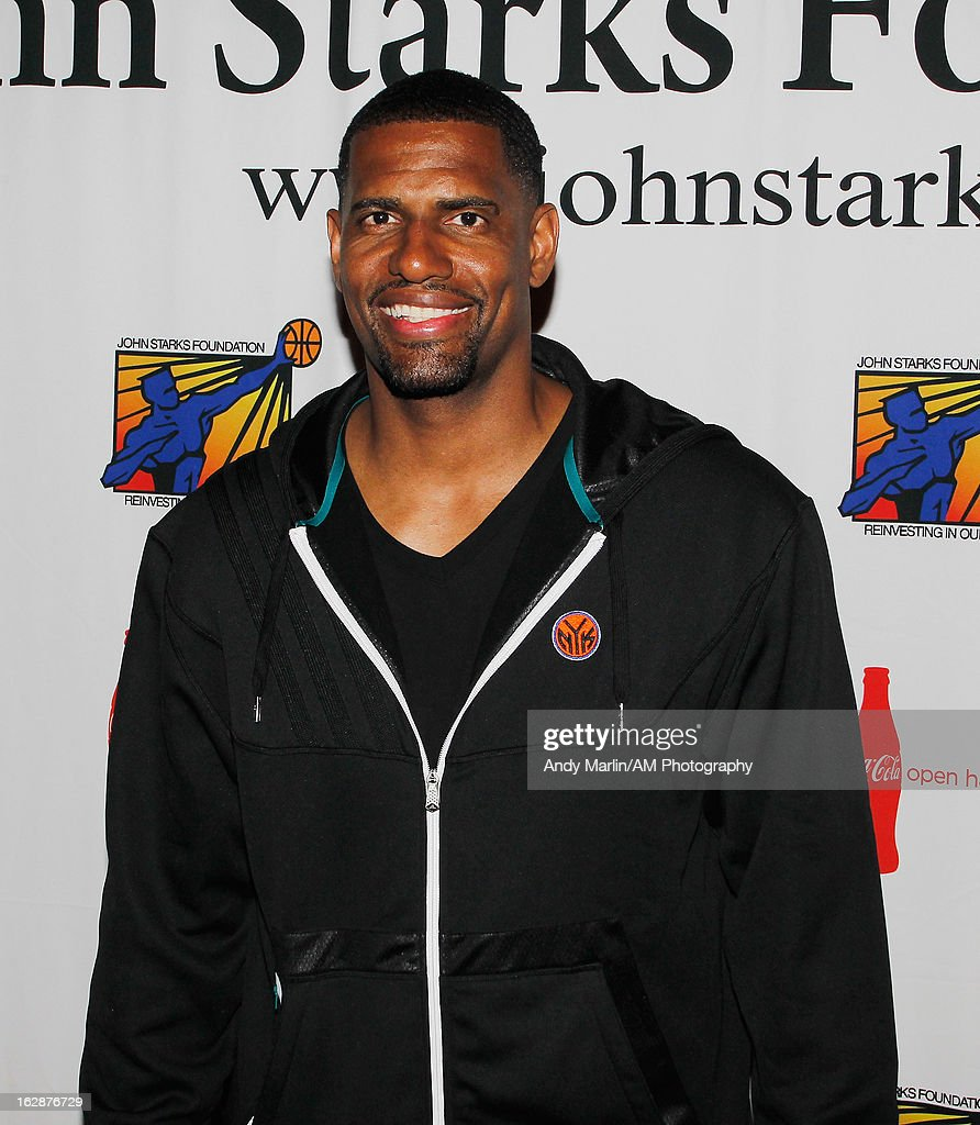 New York Knicks foward-center Kurt Thomas poses for a photo during the John Starks Foundation Celebrity Bowling Tournament on February 25, 2013 in New York City.