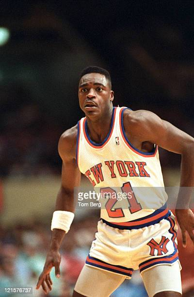 New York Knicks G Gerald Wilkens game action during the Atlanta Hawks vs New York Knickerbockers on March 25 1989 at Madison Square Garden