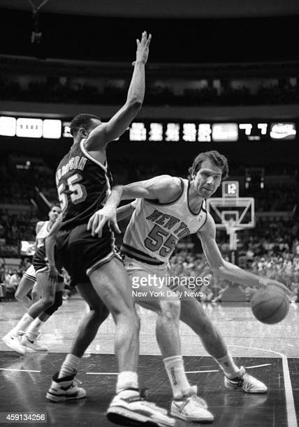 New York Knicks' Kiki Vandeweghe driving on Miami Heat Billy Thompson Overcame Ofor6 shooting in first half to score 22 points and help Knicks crush...