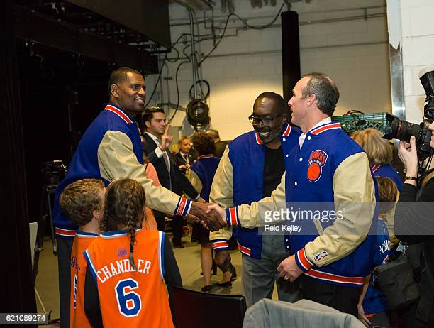 New York Knicks legend Kurt Thomas poses for a photo before the Memphis Grizzlies game against the New York Knicks on October 29 2016 at Madison...