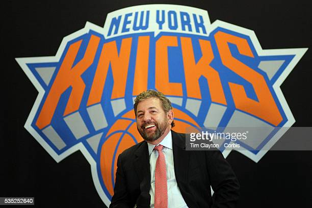 New York Knicks owner James Dolan at the Phil Jackson Press Conference introducing Jackson as the new president of the New York Knicks at Madison...
