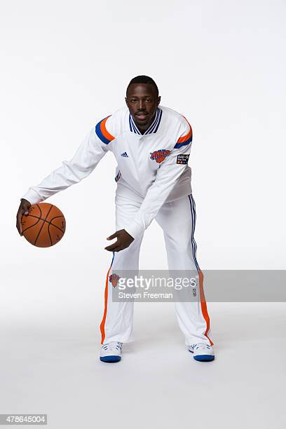 New York Knicks pick Jerian Grant poses for a portrait at the Madison Square Garden Training Facility on June 26 2015 in Tarrytown New York NOTE TO...