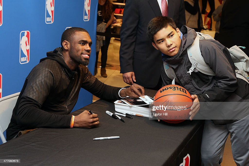 New York Knicks player Tim Hardaway Jr. attends Forever 21 X NBA Collection launch event at Forever 21 Times Square Flagship Store on March 6, 2014 in New York City.
